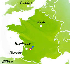 Map of France, indication of Bed & Breakfast
